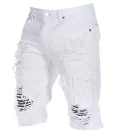 Ripped Denim Jean Shorts for Men CW100049 Our perfect fit ripped ...