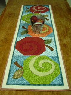 Apple Core Quilted Table Runner From My New Accuquilt Die! | My Projects    Quilts | Pinterest | Runners, Nice And Table Runners