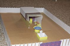 Paper scale model of the Tabernacle