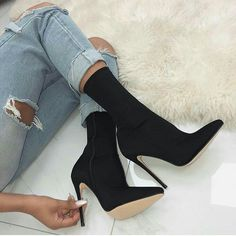 Women s Fashion High Heel boots Material Suede PU Sole material Rubber Platform 0 40 Heel high 4 53 Length 5 91 Heel style High heels boots Club sexy boots Color Black Size 35 36 37 38 39 40 Suitable for season Autumn Spring Summer High Heel Stiefel, Sexy Stiefel, Cute Shoes, Me Too Shoes, Botas Sexy, Bridal Wedding Shoes, Sexy Boots, Lace Up Heels, Black High Heels