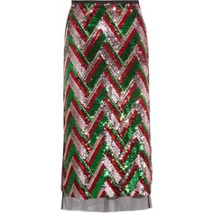 Gucci Sequined tulle midi skirt (14.010 BRL) ❤ liked on Polyvore featuring skirts, bottoms, gucci, midi skirt, chevron skirts, tulle midi skirts, red sequin skirt and embellished skirt