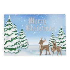 Christmas Reindeer Holiday place mat Laminated Placemat
