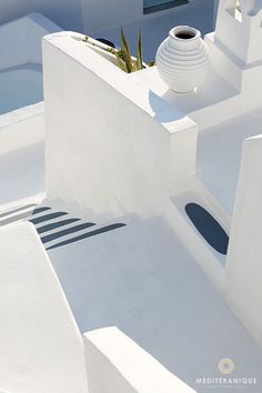 Cycladic style architecture at the On the Rocks Hotel in Santorini