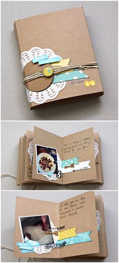 scrapbook books love the craft album with a few simple colours cheap scrapbooks Mini Album Scrapbook, Mini Albums Scrap, Scrapbook Cover, Scrapbook Journal, Book Making, Card Making, Handmade Books, Diy Birthday, Bookbinding