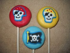 1 chocolate Halloween icing oreo pirate favors lollipop lollipops | sapphirechocolates - Edibles on ArtFire