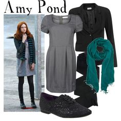 """Amy Pond"" by companionclothes Doctor Who Outfits, Doctor Who Costumes, Doctor Who Cosplay, Fandom Outfits, Fandom Fashion, Geek Fashion, Disney Fashion, Girly Outfits, Cool Outfits"