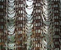 Crochet curtain; with pattern