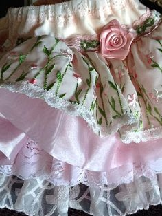 Easter Wedding flower girl Vintage Lace ruffled by Babybonbons, $62.00