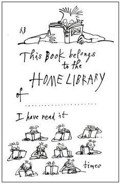bibliophilefiles:  Printable, from Quentin Blake! So cute!   So cute!