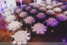 Overview of the wedding reception tables. Wedding reception ideas, wedding table decor, wedding decorations.