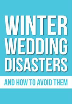 Winter Wedding Disasters
