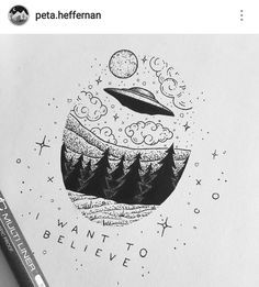 An evolution of the ufo doodles Cool Drawings, Drawing Sketches, Drawing Ideas, Ink Illustrations, Illustration Art, Stippling Art, Desenho Tattoo, Pen Art, Doodle Art