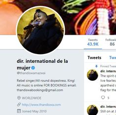 That warm, fuzzy feeling I get when one of my clients uses an image I created for them for their profile pic - #MomentsToRemember @thandiswamazwai @twitter