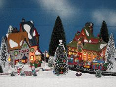 Christmas Villages by Bill Sheldon. North Pole This Way. Christmas Decoration