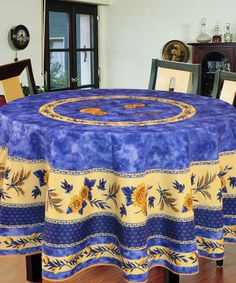 Take a look at this Blue Bee Tablecloth by Texstyles Deco on #zulily today! $15 !!