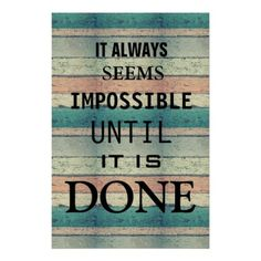 Motivational Possibility Quote Abstract Wood Poster - classic gifts gift ideas diy custom unique