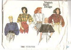 Patron Vogue 1082  1980'   Blouse  Vogue's Basic par aBirdOnMyHead  This pattern was part of an old wish list, it is not even cut.  Ce patron faisait partie d'une ancienne liste de souhaits, il n'est même pas découpé.