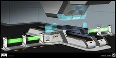 ArtStation - DOOM - Misc Props, Colin Geller Id Software, Proof Of Concept, Wolfenstein, Halo, Sci Fi, Scenery, Science Fiction, Landscape, Paisajes