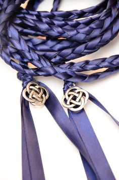 Celtic Knot Wedding Hand Fasting Binding Cord V2 Navy 6ft Handfasting Irish Tying The Ceremony