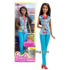 """Mattel Year 2014 Barbie """"Life in the Dreamhouse"""" Series 12 Inch Doll - Nikki as NURSE with Blue Outfit and Stethoscope"""
