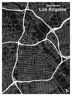 LA Map... even though this doesn't really count as a map, it's literally just a black and white version of ArcMAP's data creation. BUT it looks cool in b
