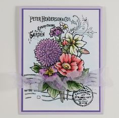 My Noteworthy Cards: Another New Stampendous Floral