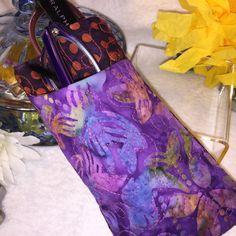 Batiks Sunglasses Case Purple Eyeglasses by PhenomenalWomenShop