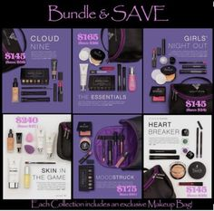 The Younique collections are amazing. Get more bang for your buck! Many different collections to choose from for all of your makeup and skin care needs!!  Amazing eyeshadow colors and lipsticks and the powders and foundations provide AMAZING coverage!!  To order please visit https://www.youniqueproducts.com/MariannePatout
