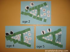 A is for alligator preschool craft - Age 2, Age 4 and Age 5