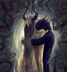 diaval fanart - Google Search <<< from this point of view, he totally looks lke Pitch Black (Rise of the Guardians)