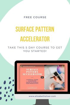 What if you just spent a couple minutes per day with you, yourself, and your surface design business this week? Here's a free course to help you build and grow a surface pattern design business you love!