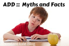 Myths and Facts About ADD/ADHD