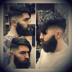 Chris John Millington - getting a haircut - full thick dark beard and mustache beards bearded man men mens' style hair hairstyle cut barber handsome #goodhair #beardsforever