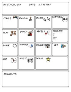 Daily Communication Note (Special Education) Freebie!