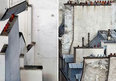 one of michael wolf's most recent collections fixates on a very specific facet of an urban landscape: paris' rooftops.