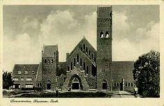 De Rooms-katholieke Johannes de Doper Kerk aan de Huizumerlaan te Huizum, na 1 januari 1944 Leeuwarden. Poststempel 20-08-1941