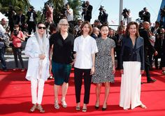 """Jury member Leila Hata, jury president Jane Campion, jury members  Sofia Coppola, Carole Bouquet and Do-yeon Jeon attend the """"La Meraviglie"""" premiere during the 67th Annual Cannes Film Festival on May 18, 2014 in Cannes, France."""
