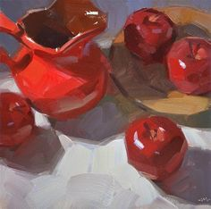 """Daily Paintworks - """"Pitcher Perfect"""" - Original Fine Art for Sale - © Carol Marine"""