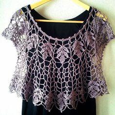 DIY: Blusa e bolero de crochê | Look | Moda | Fashion | Dresses | Casaquinho de Crochê | De Frente Para o Mar