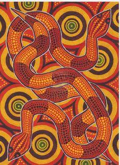 Aboriginal Snakes by derng on DeviantArt Aboriginal Art Australian, Aboriginal Art Animals, Aboriginal Patterns, Aboriginal Dot Painting, Indigenous Australian Art, Australian Painting, Indigenous Art, Aboriginal Tattoo, Snake Painting