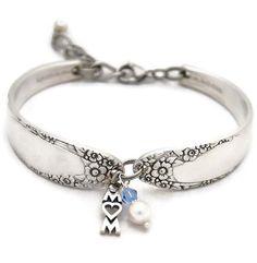 Spoon Bracelet Vintage Silverware Jewelry by TheSilverwearShop
