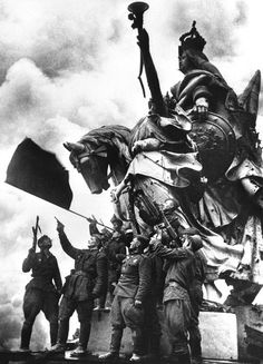 Russians on top of the Reichstag May 1945