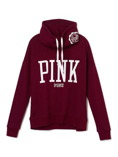 High-Neck Pullover - PINK - Victoria's Secret