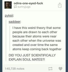 wow. seriously, everything can be scienced on tumblr