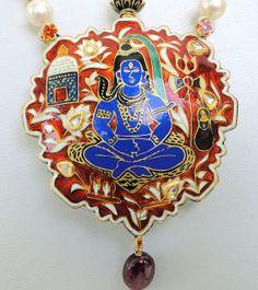vintage antique 22 K gold pendant necklace kundan by TRIBALEXPORT, $5299.00