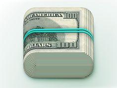 Nice wad of cash iOS icon!