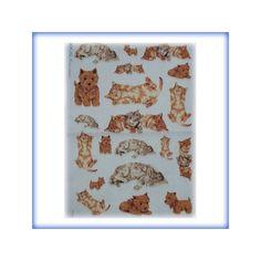 carta di riso per decoupage 30x42 cani e gatti