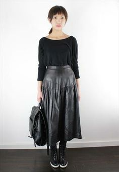 The Perfect Midi | Leather midi skirt, Skirts and Midi skirts