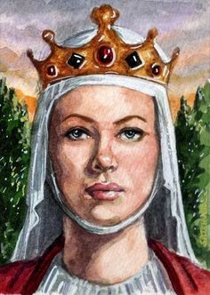 Eleanor of Aquitaine was one of the wealthiest and most powerful women in Western Europe during the High Middle Ages. As well as being Duchess of Aquitaine in her own right, she was queen consort of France and of England.   Born: 1122, Aquitaine  Died: April 1, 1204, Fontevraud Abbey  Buried: Fontevraud Abbey  Children: John of England, Richard I of England, Geoffrey II, Duke of Brittany, More  Parents: William X, Duke of of Aquitaine, Aenor de Châtellerault