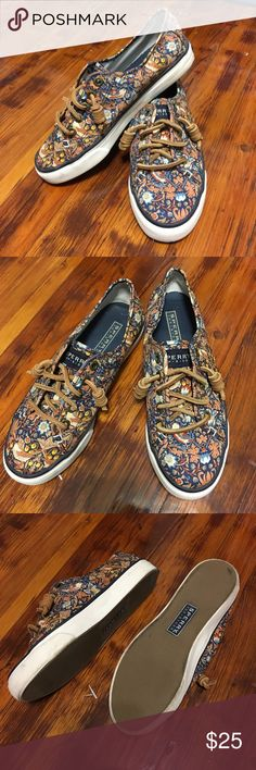 Sperry Top-Sider Fall Shoes Size 5M Sperry Top-Sider  5M  Fall Colors & Pattern  Excellent Condition - Worn Twice Sperry Shoes Flats & Loafers